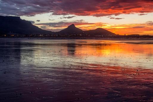 tafelberg zonsondergang tablemountain sunset